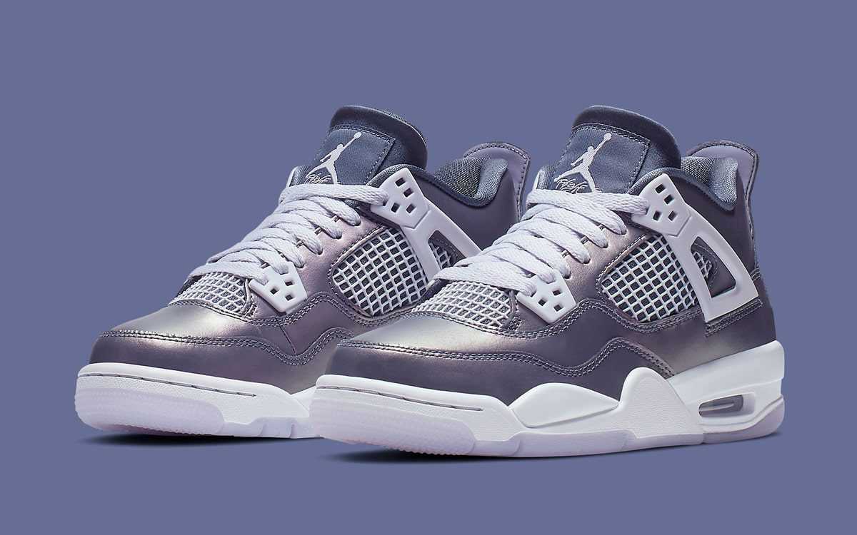"Official Looks at the ""Monsoon Blue"" Air Jordan 4 GS"