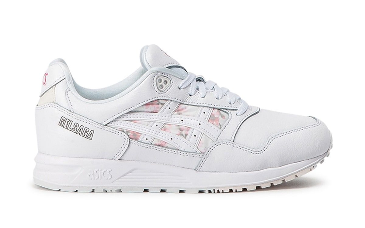Available Now // ASICS Gel Saga WMNS in White and Floral