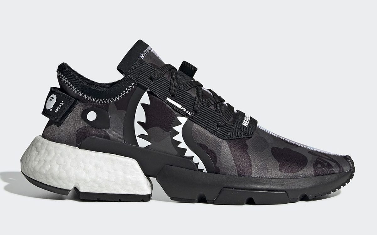 Official Looks at the BAPE x Neighborhood x adidas POD s3.1