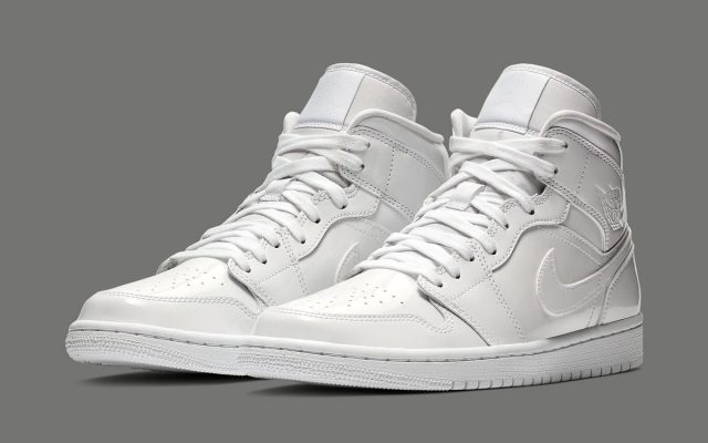 Available Now    White Patent Leather Air Jordan 1 Mid 9222eed05f
