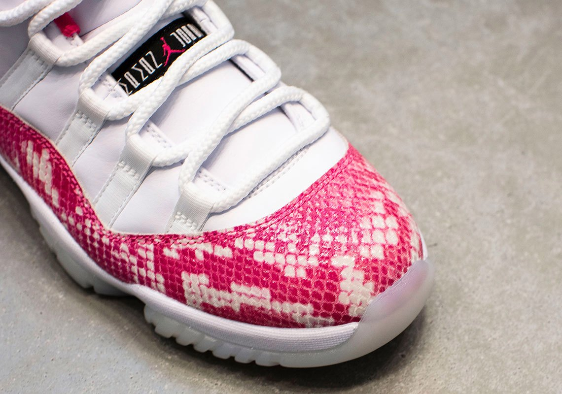 "Where to Buy Air Jordan 11 Low WMNS ""Pink Snakeskin"" Release Dste"