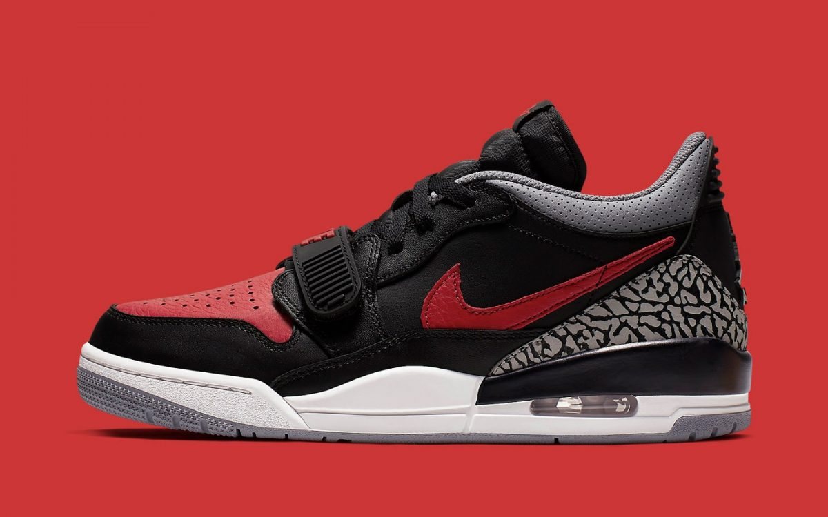 "Official Looks at the ""Bred Cement"" Jordan Legacy 312 Low"