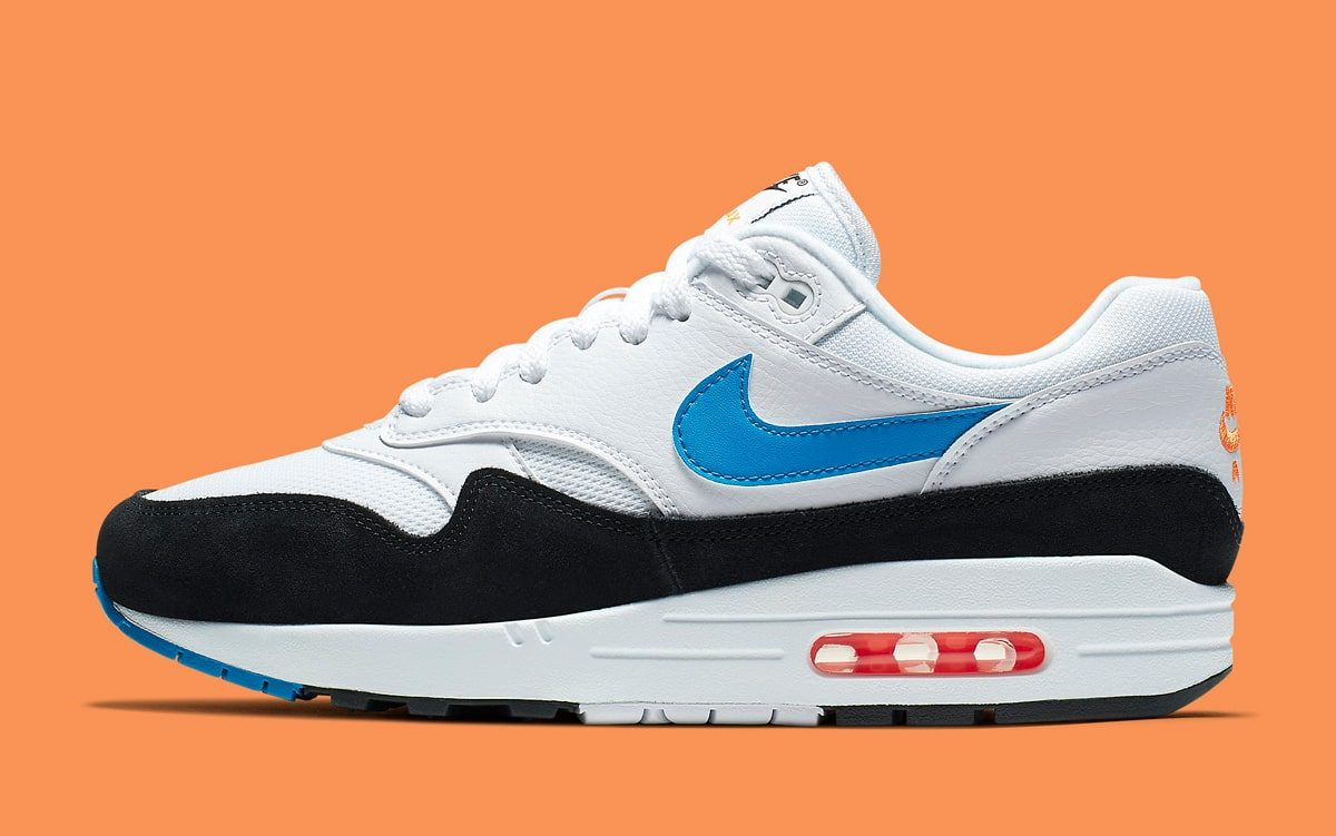 air max 1 orange and blue