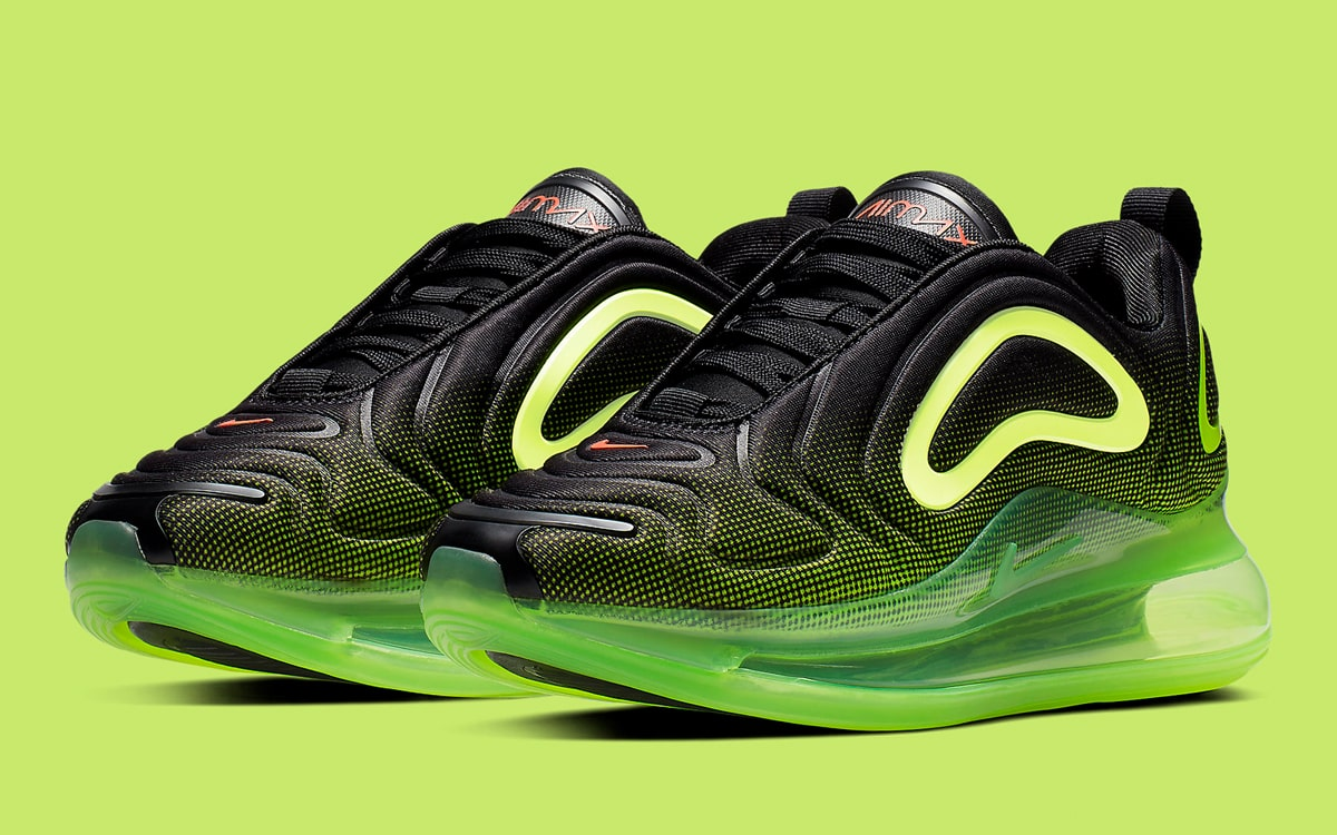 These Black and Volt Air Max 720s for Boys Arrive in April