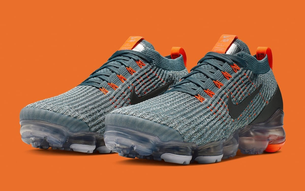 Available Now // Another New VaporMax Flyknit 3.0 Surfaces in Grey and Orange