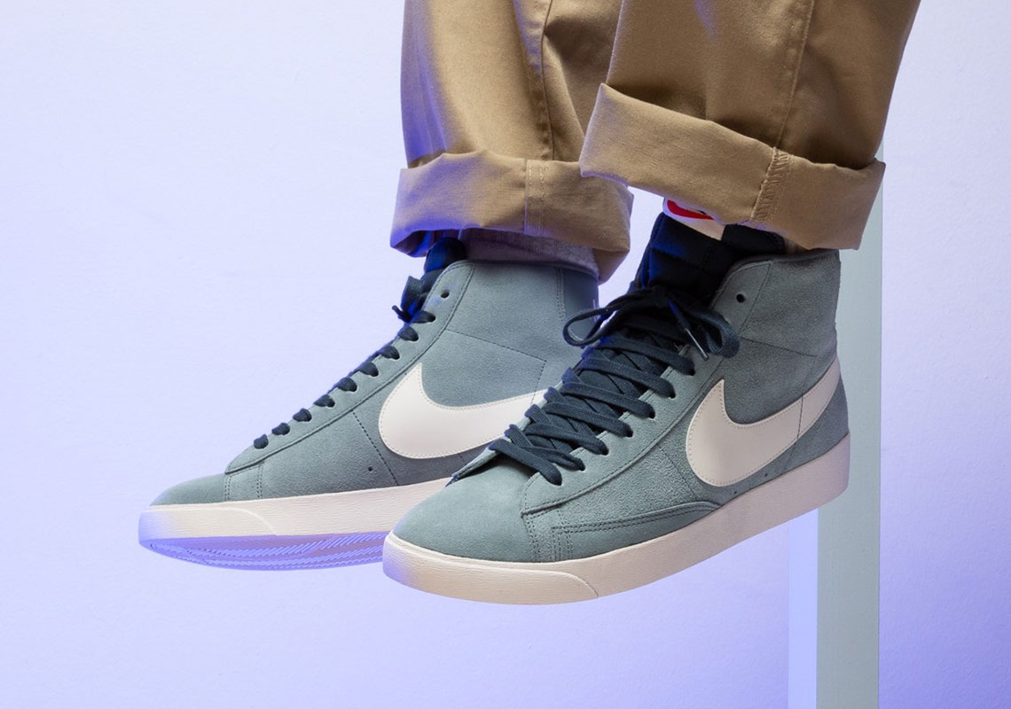 """Available Now // """"Monsoon Blue"""" Vintage-Styled Nike Blazers"""