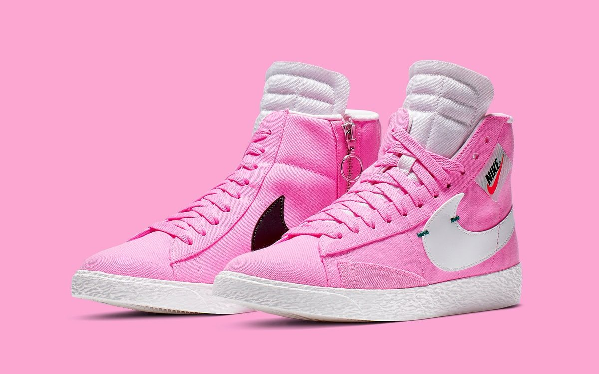 The Nike Blazer Rebel Mid Looks Pretty in Pink