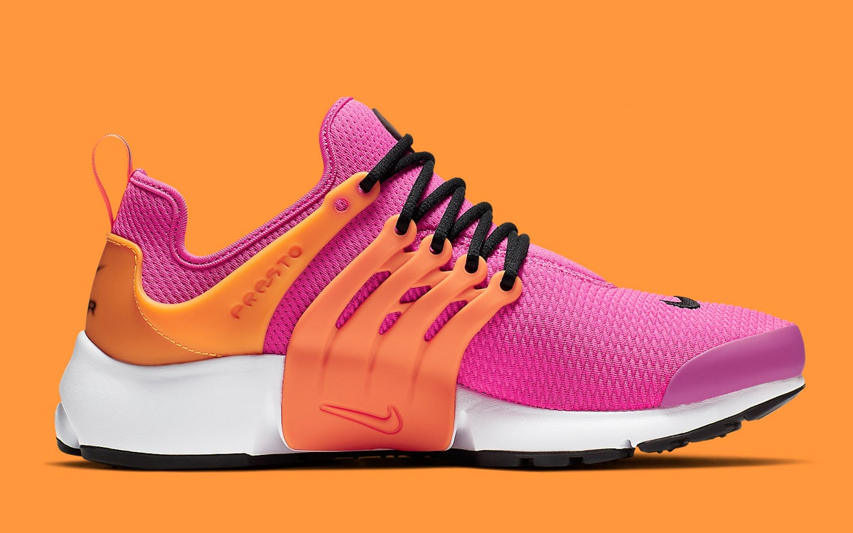 chaussures de séparation 245b9 f40cc Available Now // Nike Air Presto in Laser Orange and Fuchsia ...
