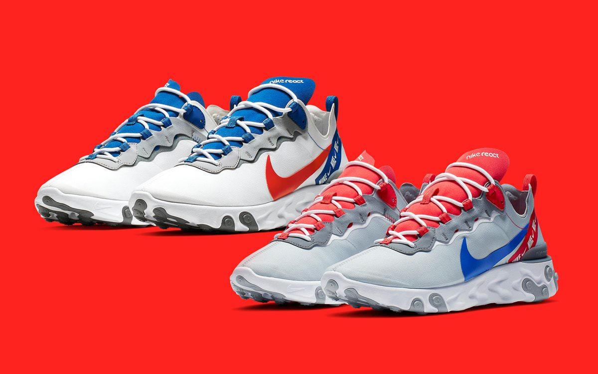 Ribbon Branding Dons This Patriotic Duo of React Element 55s
