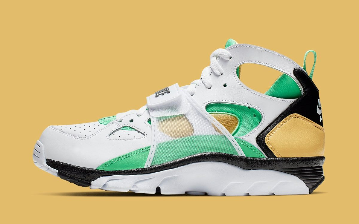 Available Now // Nike Air Trainer Huarache in Green and Gold