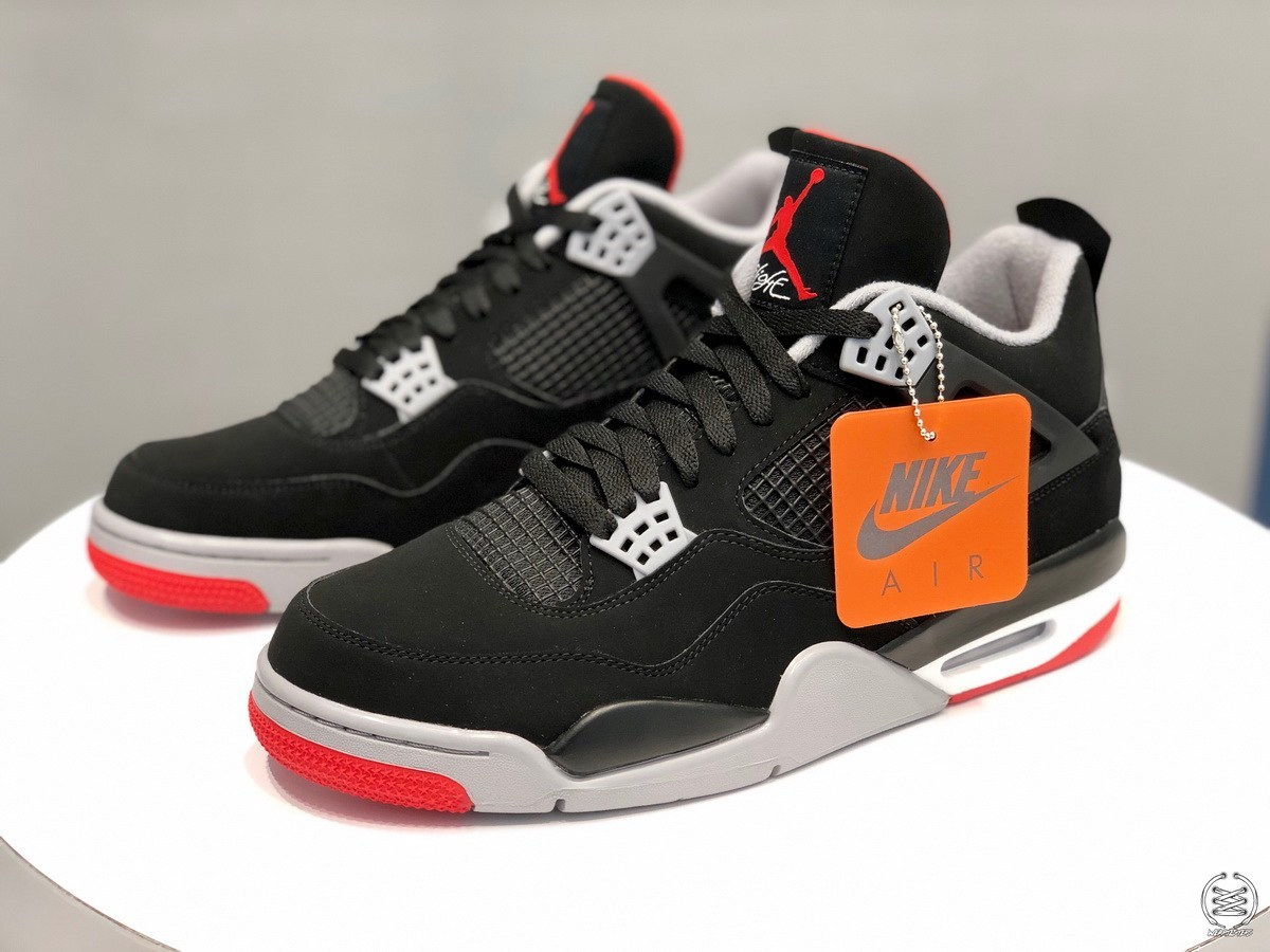 "new concept eeea6 e0a6b Where to Buy the Nike Air-Branded ""Bred"" Air Jordan 4"