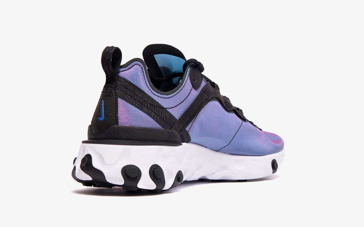 Nike React Element 55 Black/Black-Laser Fuchsia-White BQ9241-002