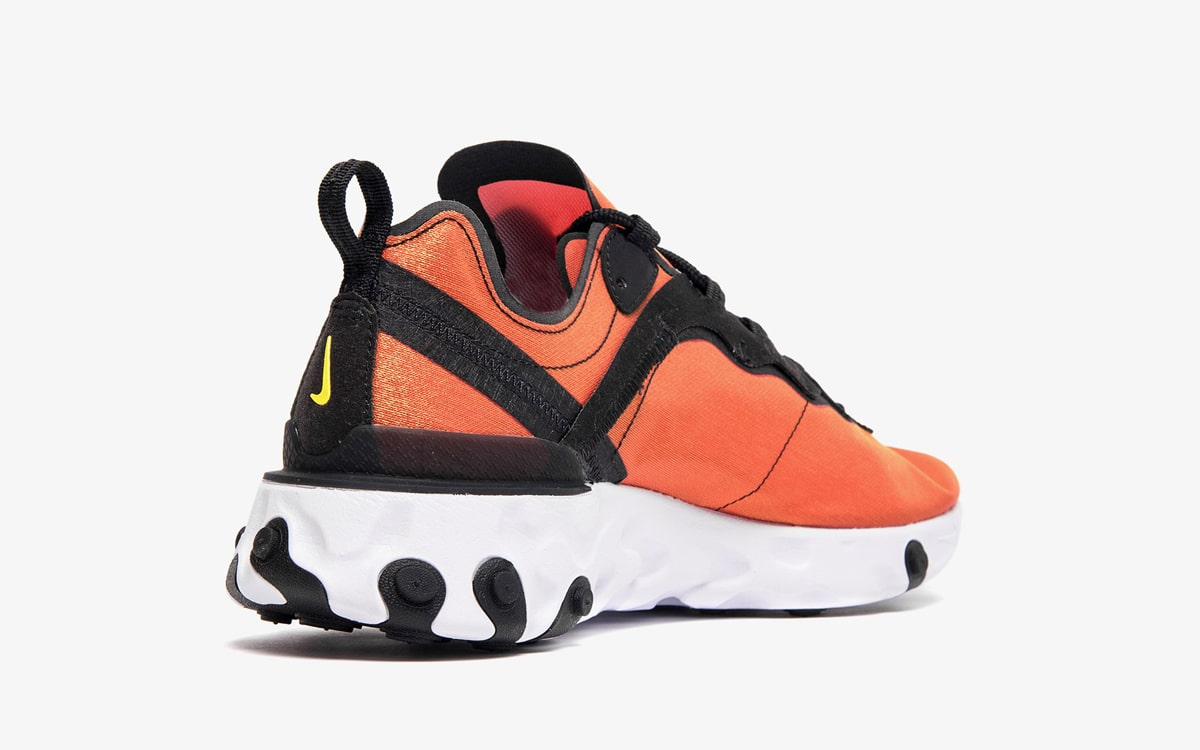 Nike React Element 55 Black/Black-Tour Yellow-White BQ9241-001
