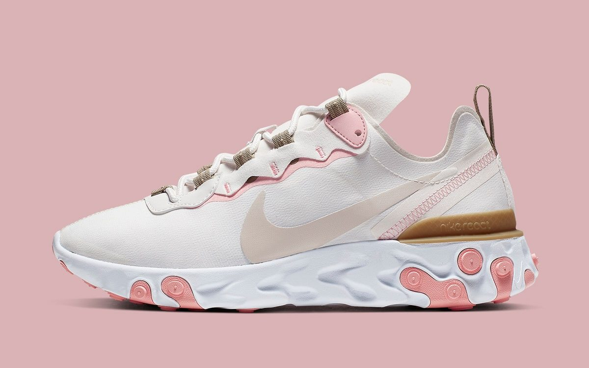 Nike's React Element 55 Arrives in Pink and Parachute Beige