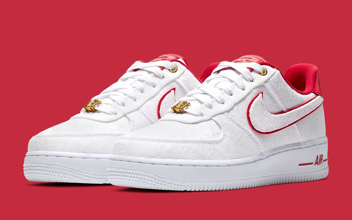 Nike WMNS Air Force 1 '07 Lux White/University Red 898889-101