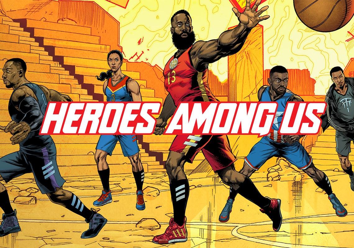 "Marvel Team Up with adidas Basketball to Release ""Heroes Among Us"" Collection"
