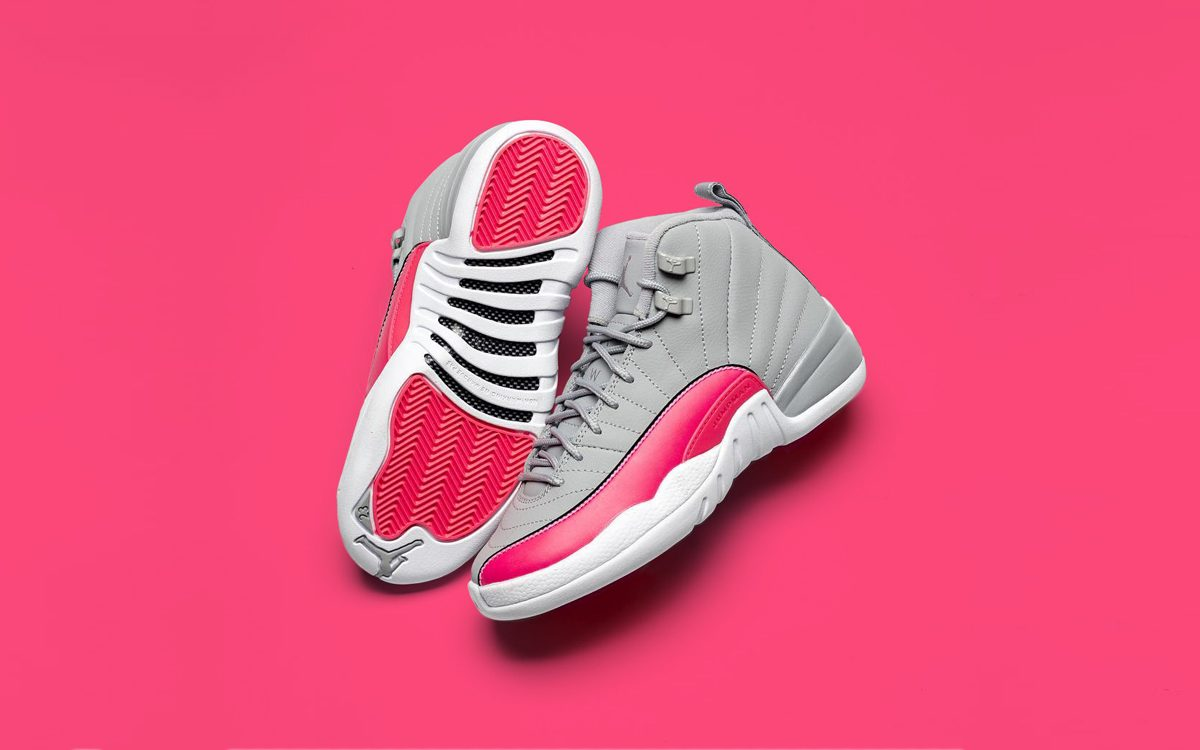 Detailed Looks // Air Jordan 12 GS in Wolf Grey and Pink