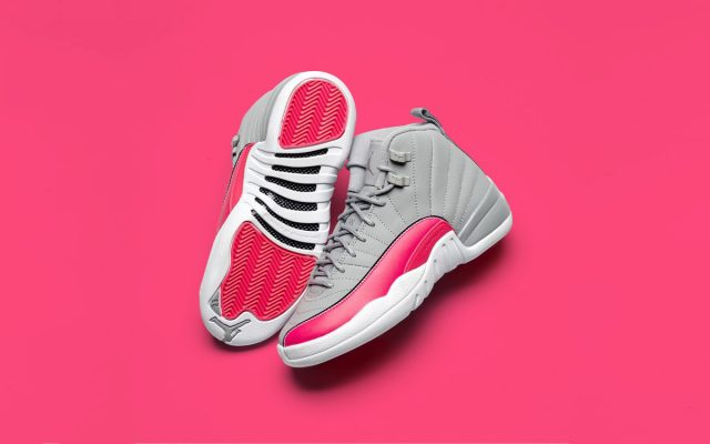 the latest 563af f0c9b Detailed Looks    Air Jordan 12 GS in Wolf Grey and Pink