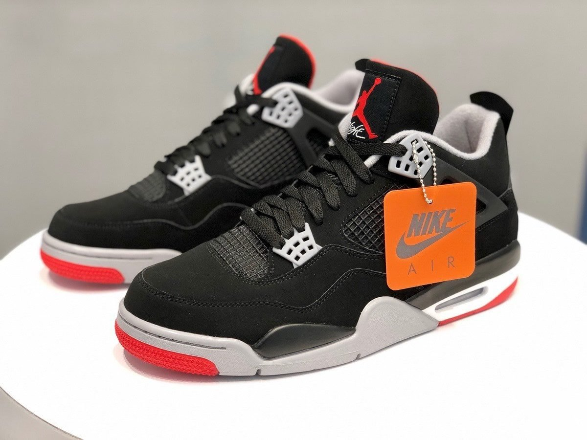 "new concept 71479 3aec9 Where to Buy the Nike Air-Branded ""Bred"" Air Jordan 4"