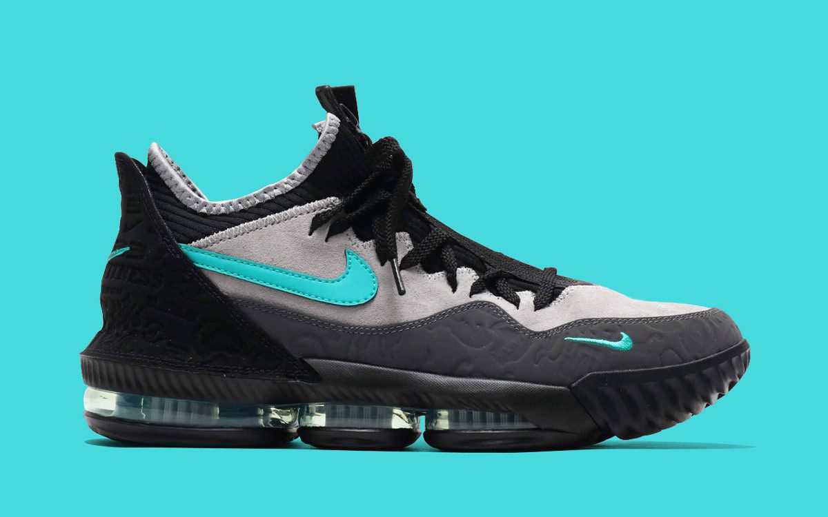 "Detailed Looks at the atmos x Nike LeBron 16 Low ""Clear Jade"""
