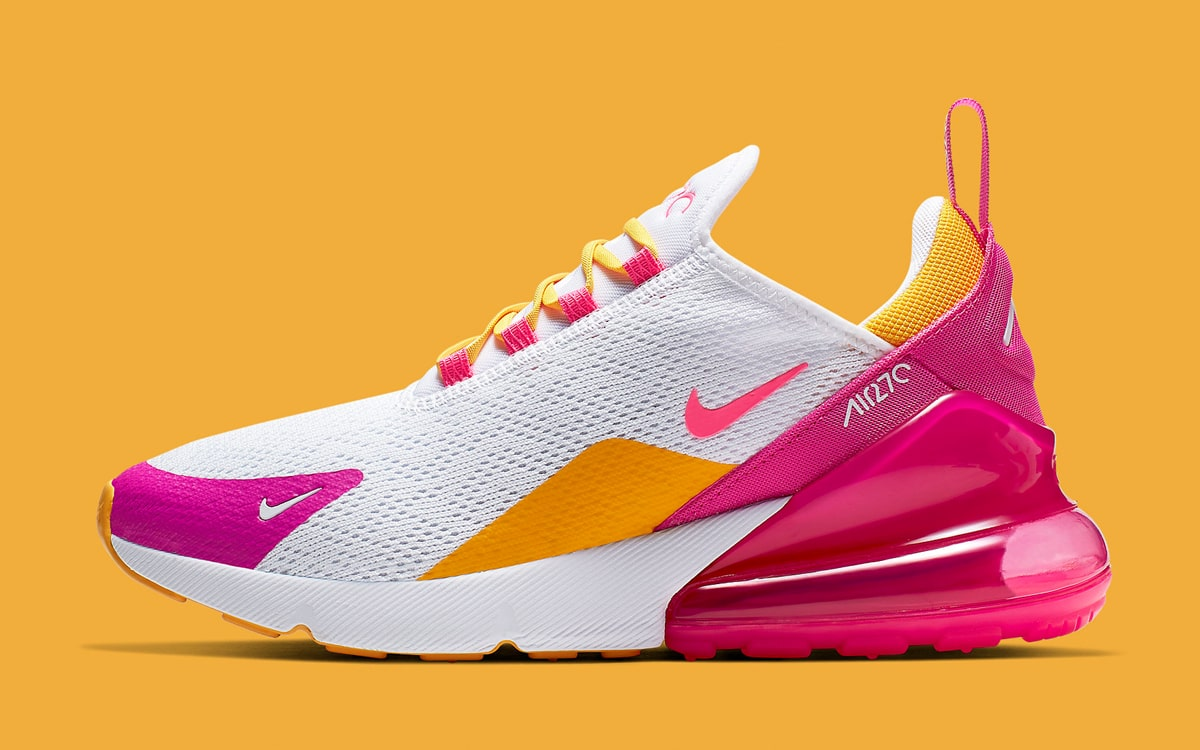 air max 270 white orange pink
