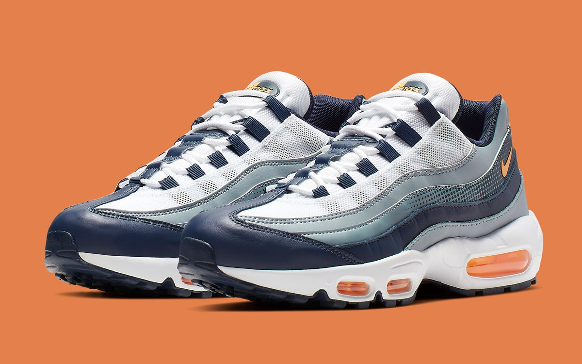 The Air Max 95 Arrives in Nautical Navy, White and Orange   HOUSE ...