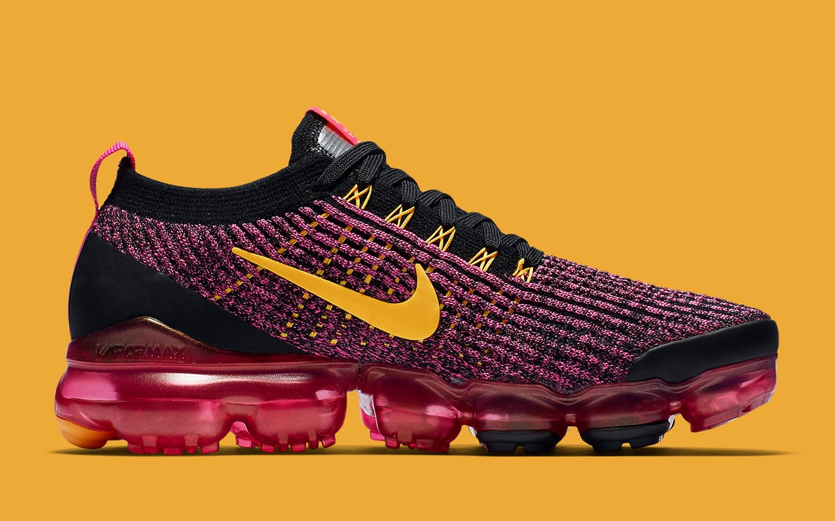 Nike Air VaporMax Flyknit 3 Laser Fuchsia/Black/University Gold AJ6910-600