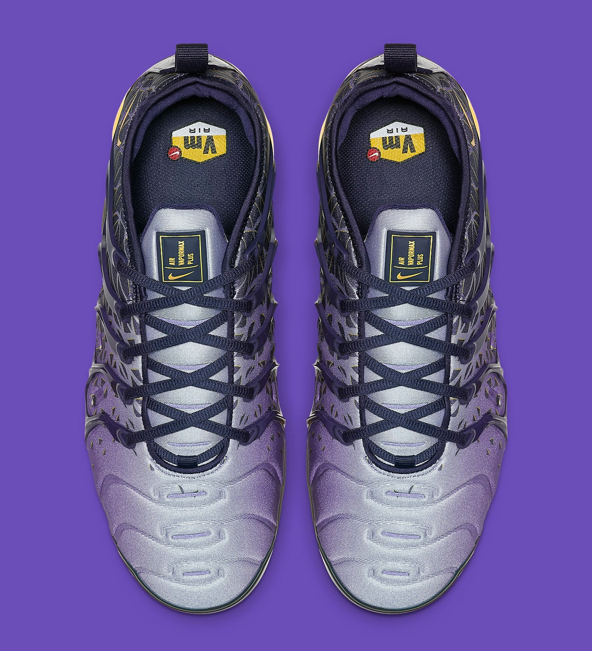 big sale 84754 64a53 The Los Angeles Lakers Lend their Colors to the VaporMax Plus