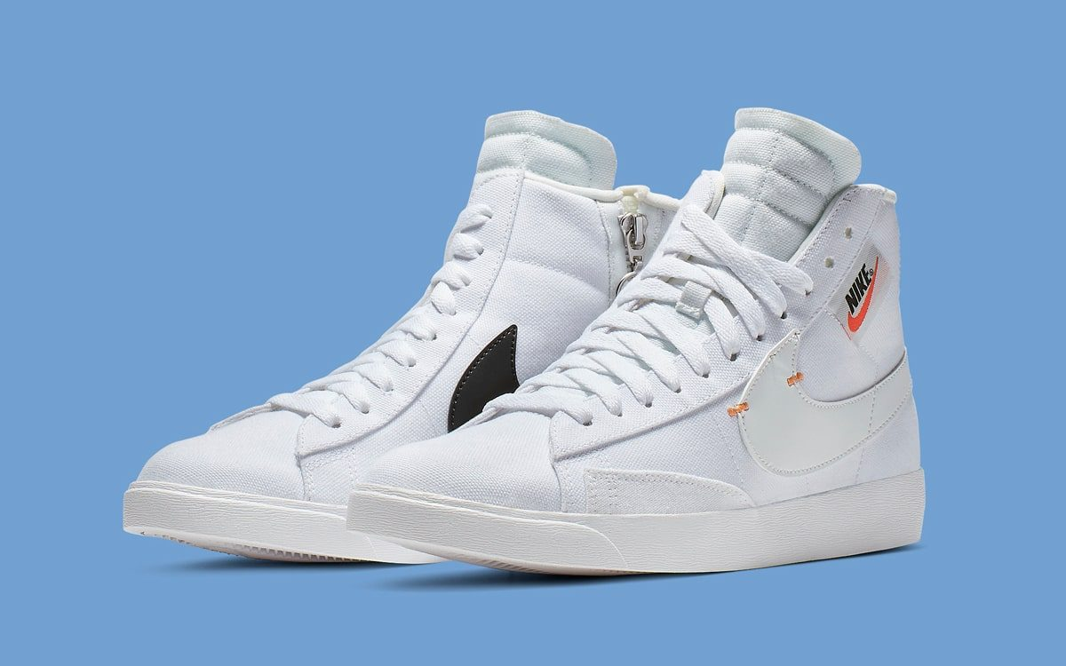The Blazer Mid Rebel Surfaces in a Clean-As Combo of White and Black
