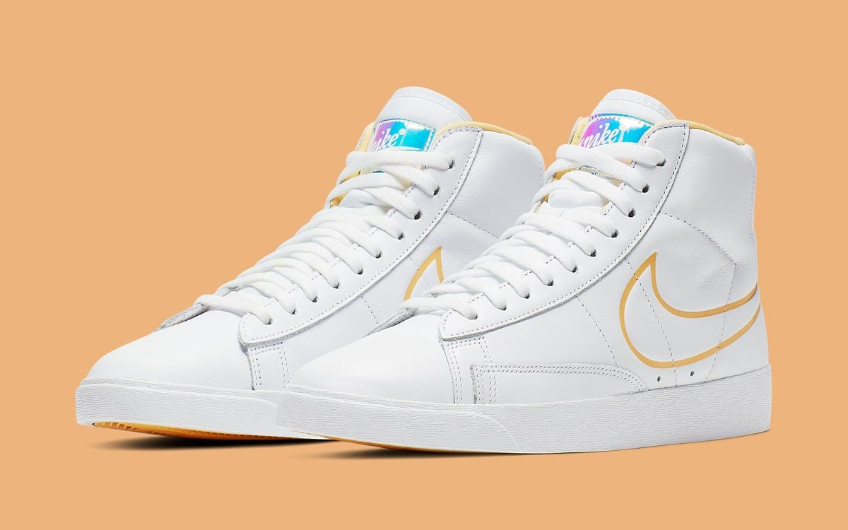 Available Now // Iridescent Tongue-Tabbed Nike Blazers