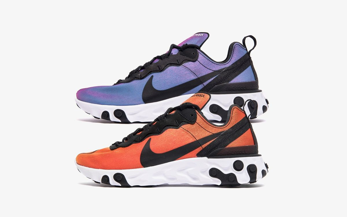 "Nike React Element 55 ""Sunrise and Sunset"" Pack is Available Early!"