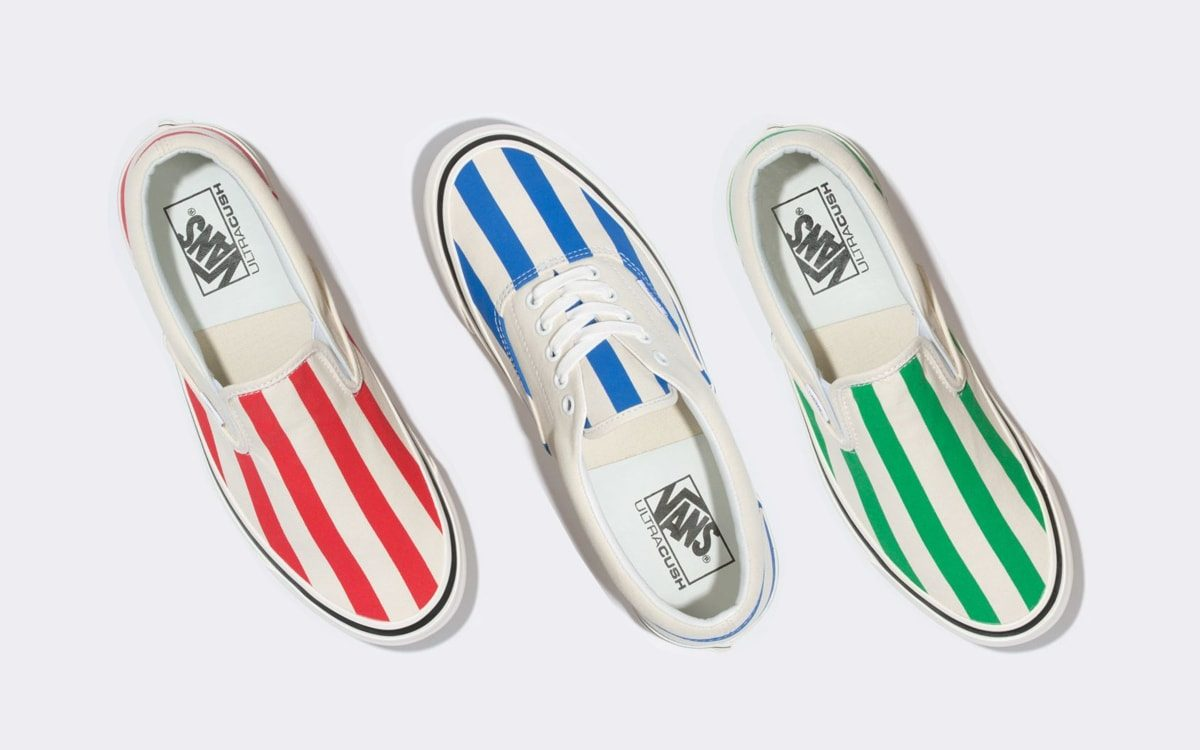 Available Now // Candy-Stripe Vans Classics Pack