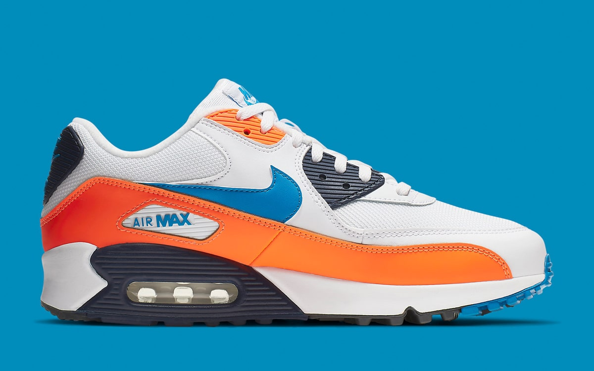 907f5ba79c Available Now // Knicks Colors Take Over the Air Max 90 - HOUSE OF ...