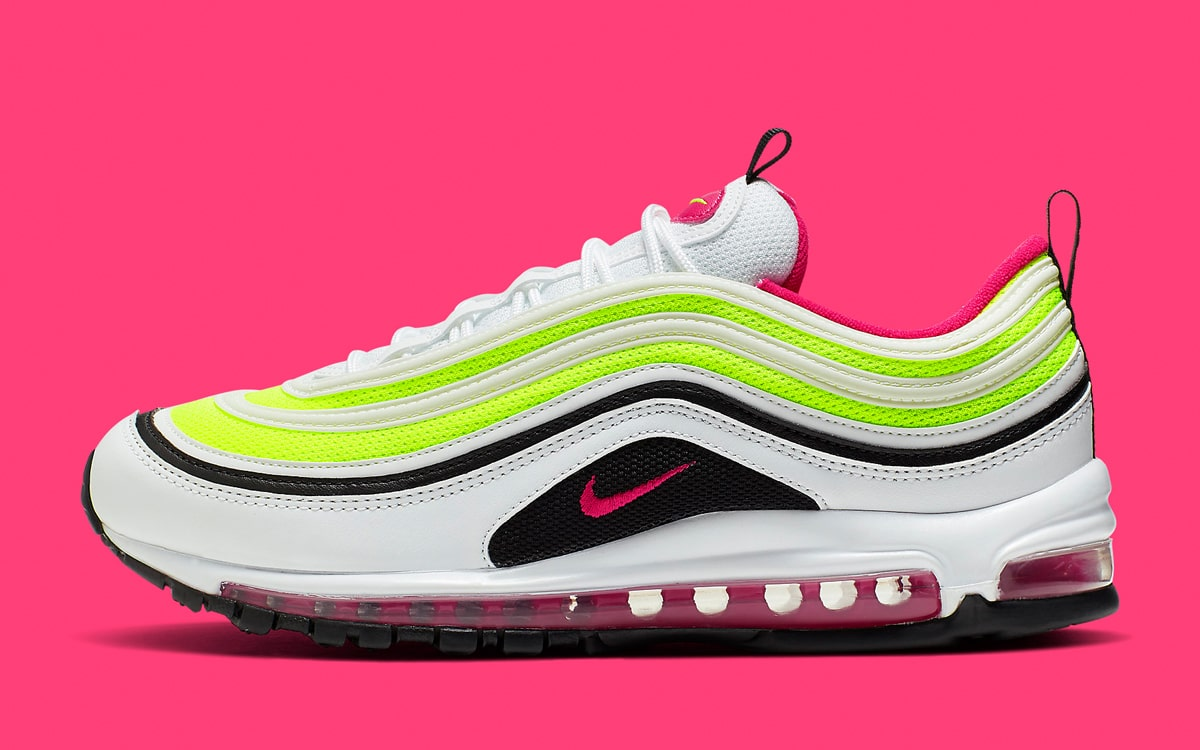 Available Now Nike Air Max 97 In Rush Pink And Volt House Of