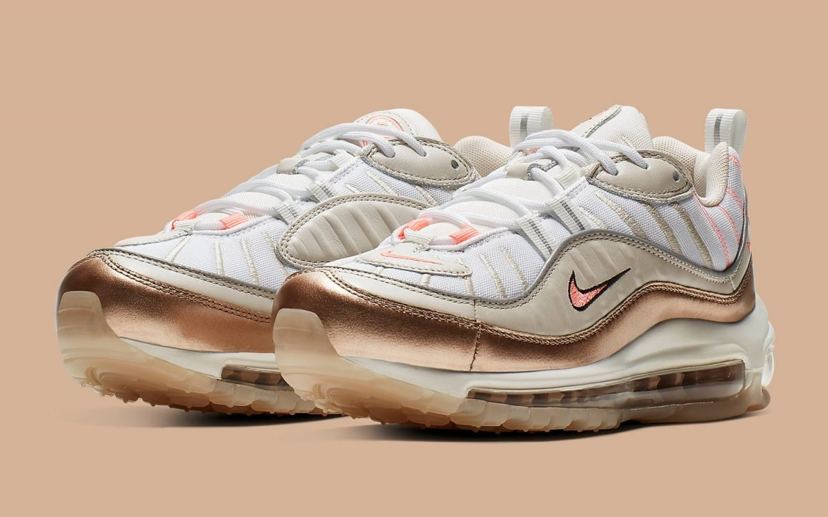 Available Now The Air Max 98 Goes Bold with Metallic Rose