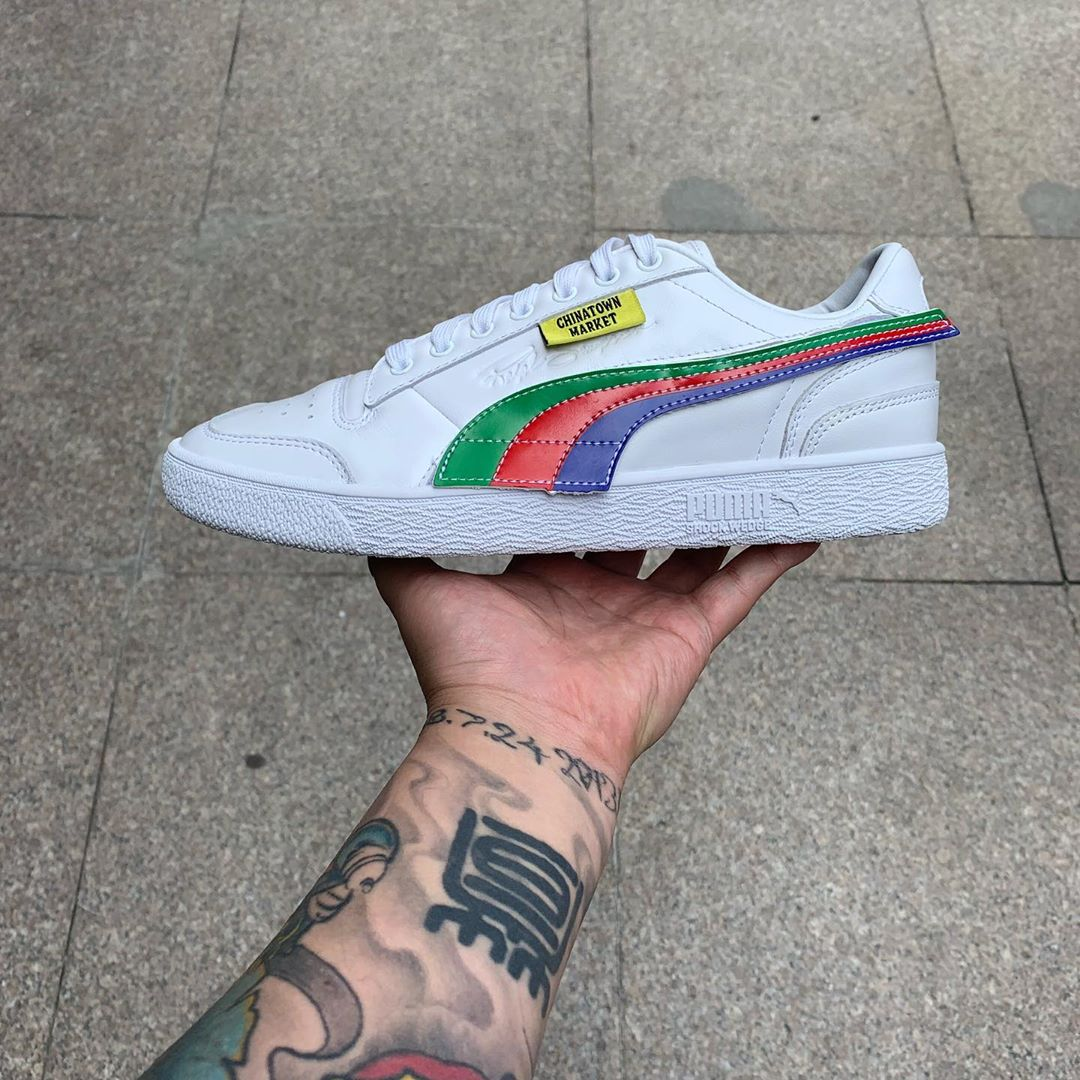 First Looks at the Chinatown Market x PUMA Ralph Sampson Low with Removable Velcro Overlays