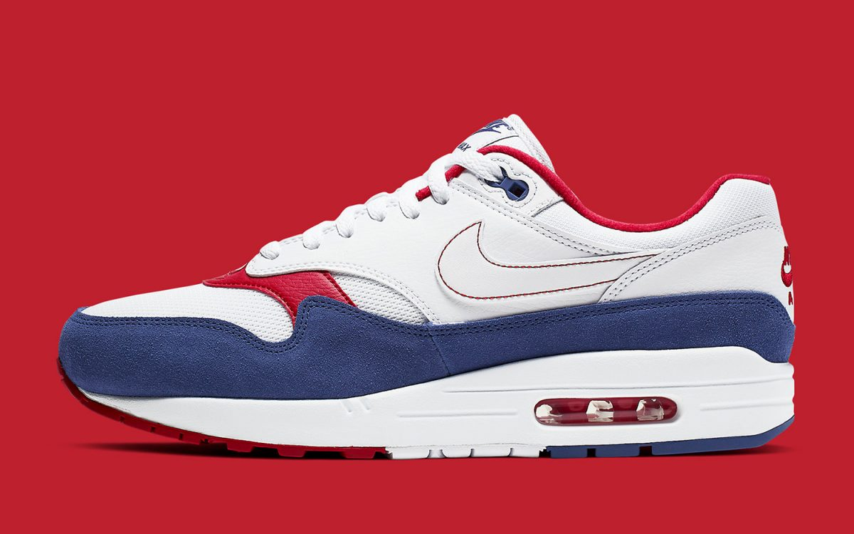official photos 08cfe d9b7b Available Now // The Air Max 1 Picks a Patriotic Palate of Red, White