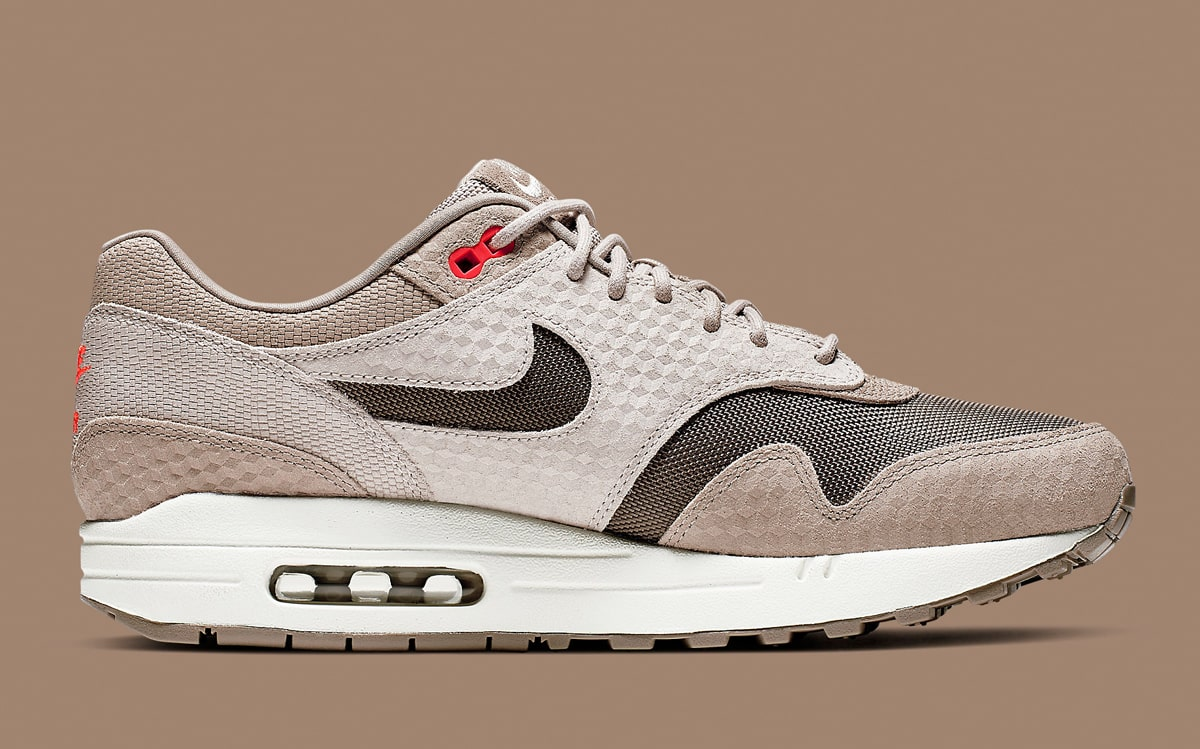 8e65dfbab4070 Available Now // Cut-Out Swoosh Nike Air Max 1s in Earthy