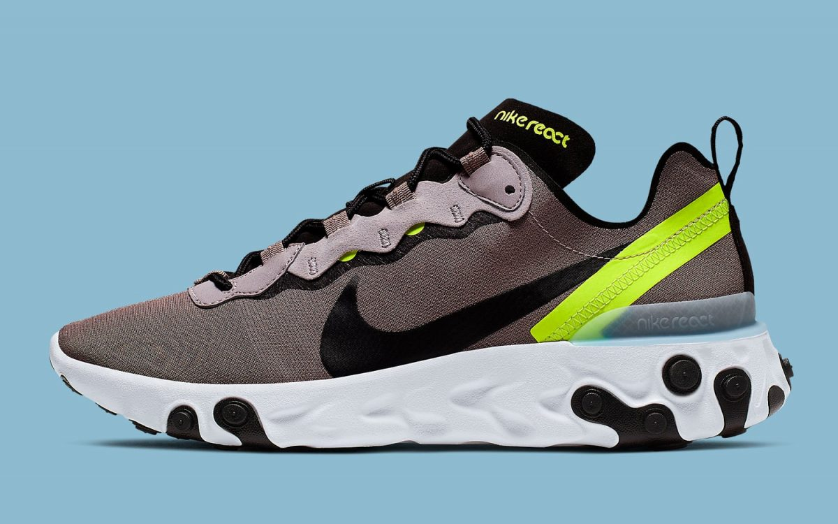 Available Now // This Nike React Element 55 Packs a Pumice and Volt Punch