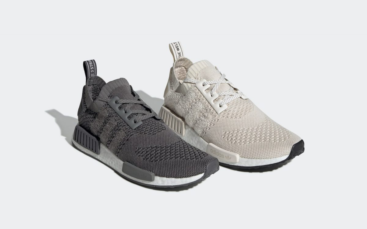 "Available Now // adidas NMD R1 Primeknit in ""Chalk White"" and ""Ash Grey"""