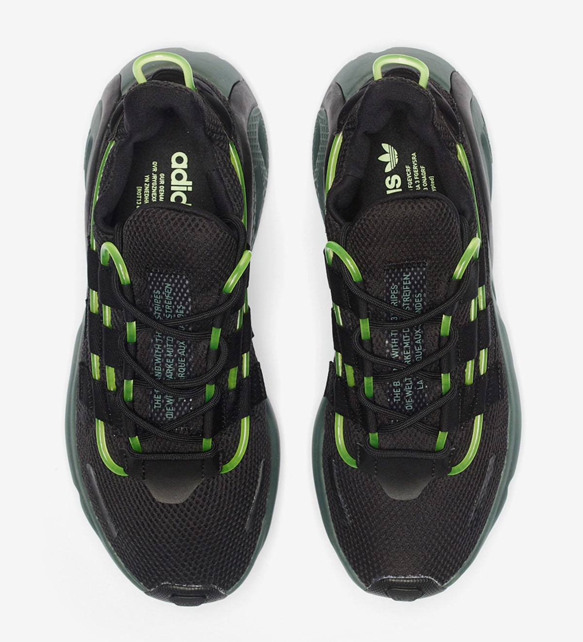 The adidas LXCON is Lookin' Mean in Black 'n' Green HOUSE