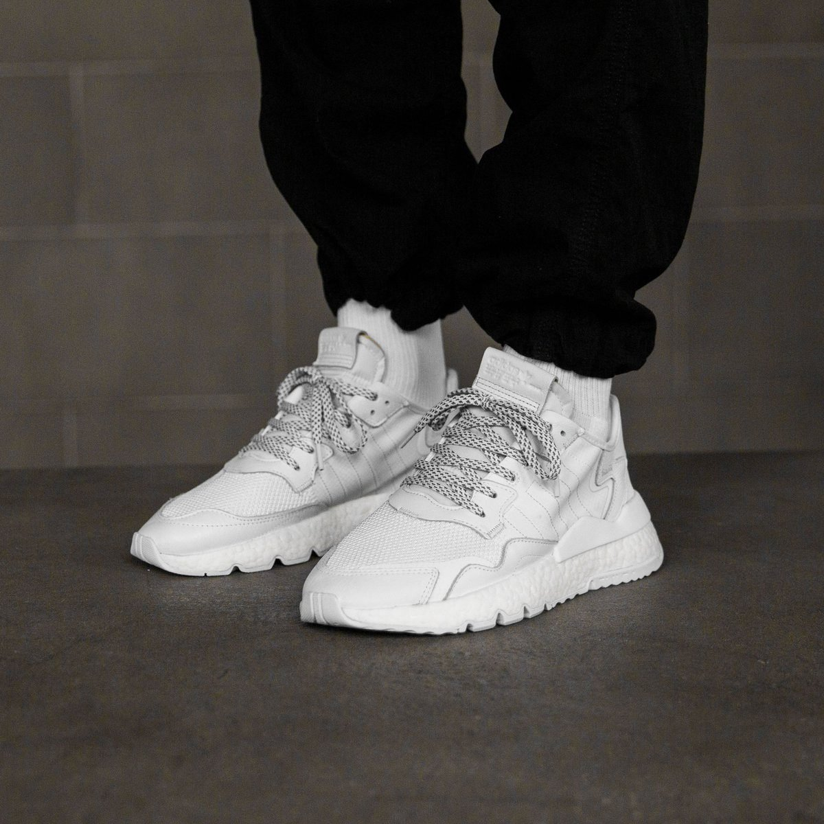"Available Now // ""Triple White"" adidas Nite Jogger"