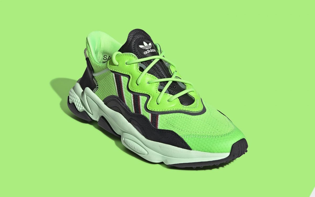 The adidas Ozweego Surfaces in Shocking Neon Green