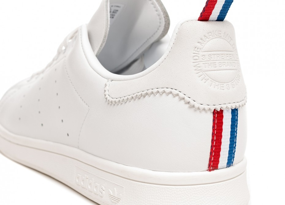 The adidas Celebrates Next Month's FIFA World Cup in France with a Special Ribbon-Heeled Stan Smith