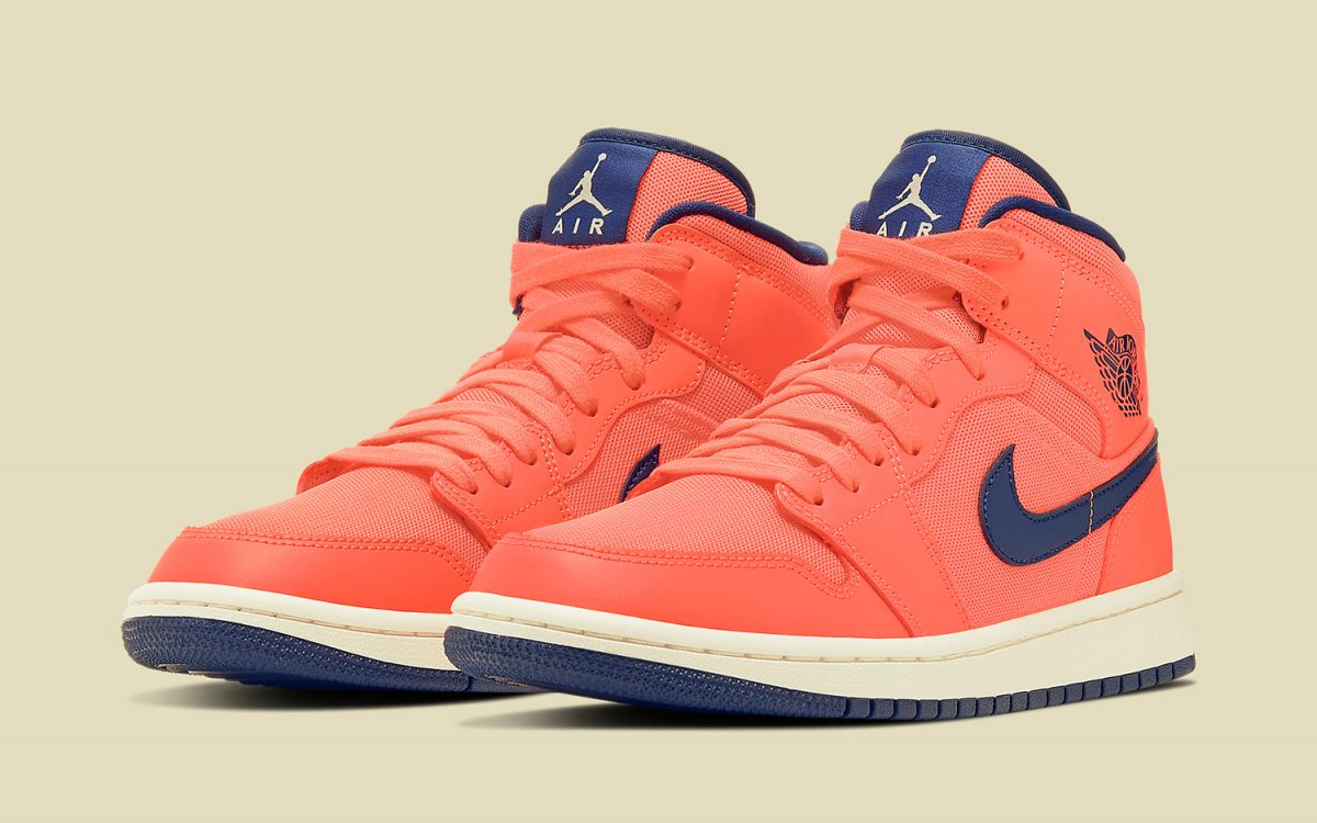 Available Now // The Air Jordan 1 Mid Arrives in a Letterman-Like Colorway for the Ladies