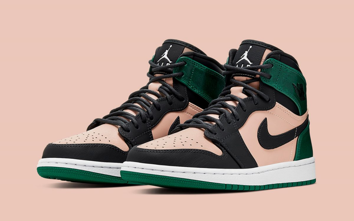 new style 8b3c8 60b5d Available Now    The Air Jordan 1 High Looks Mean in Pink and Green