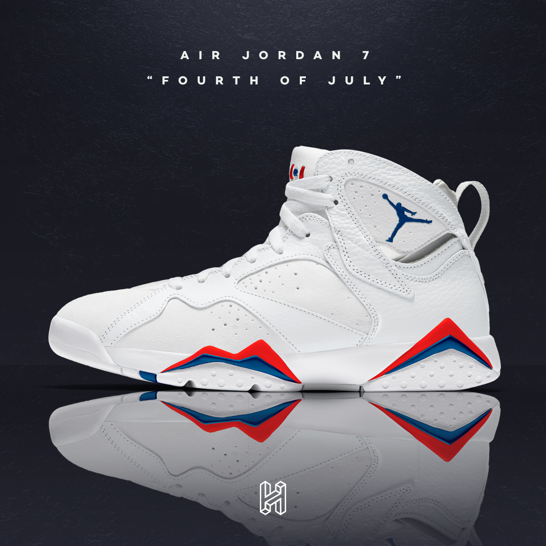 "new styles dbdc7 72eb7 Concept Lab // Air Jordan 7 ""Fourth of July"" - HOUSE OF HEAT ..."