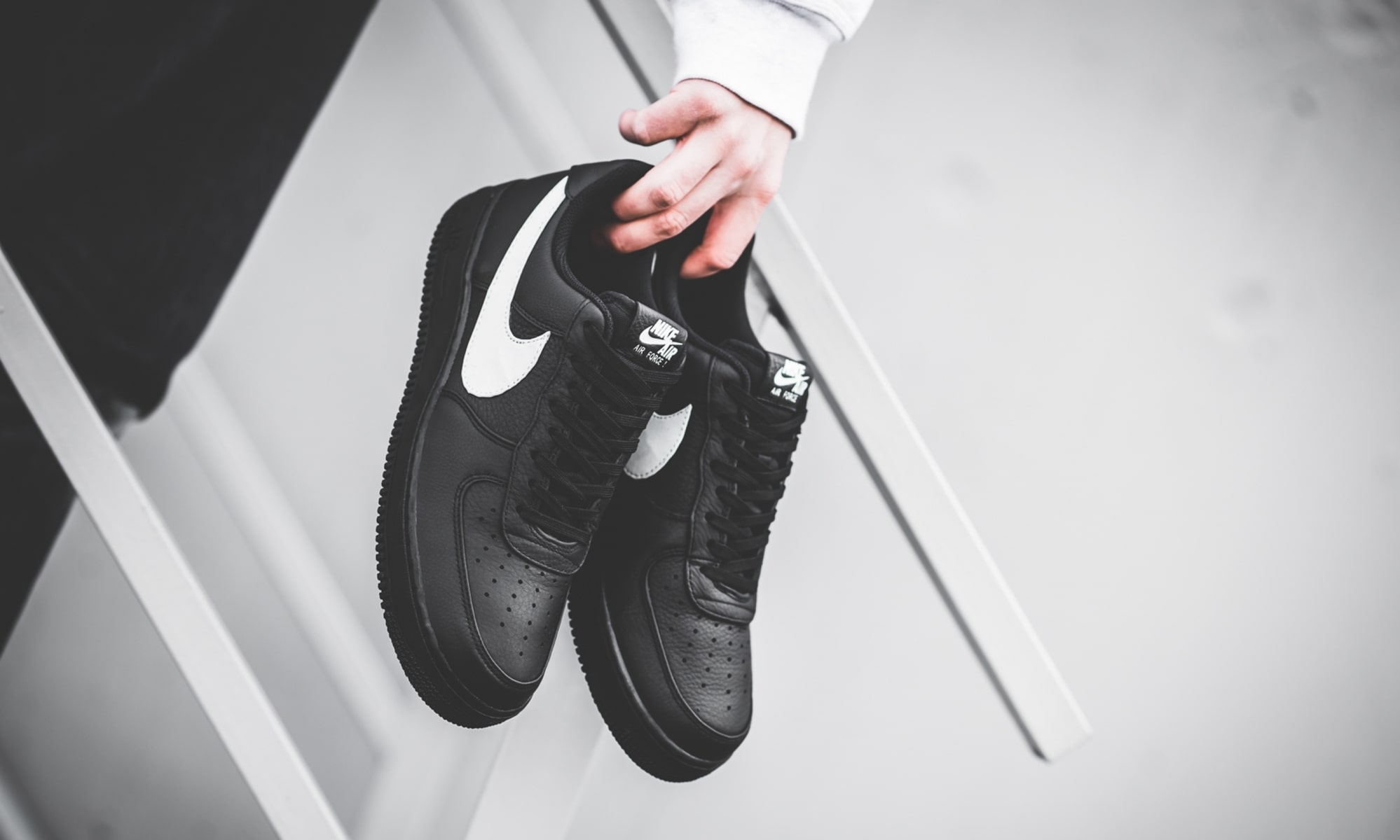 Oversized Swoosh Air Force 1s are