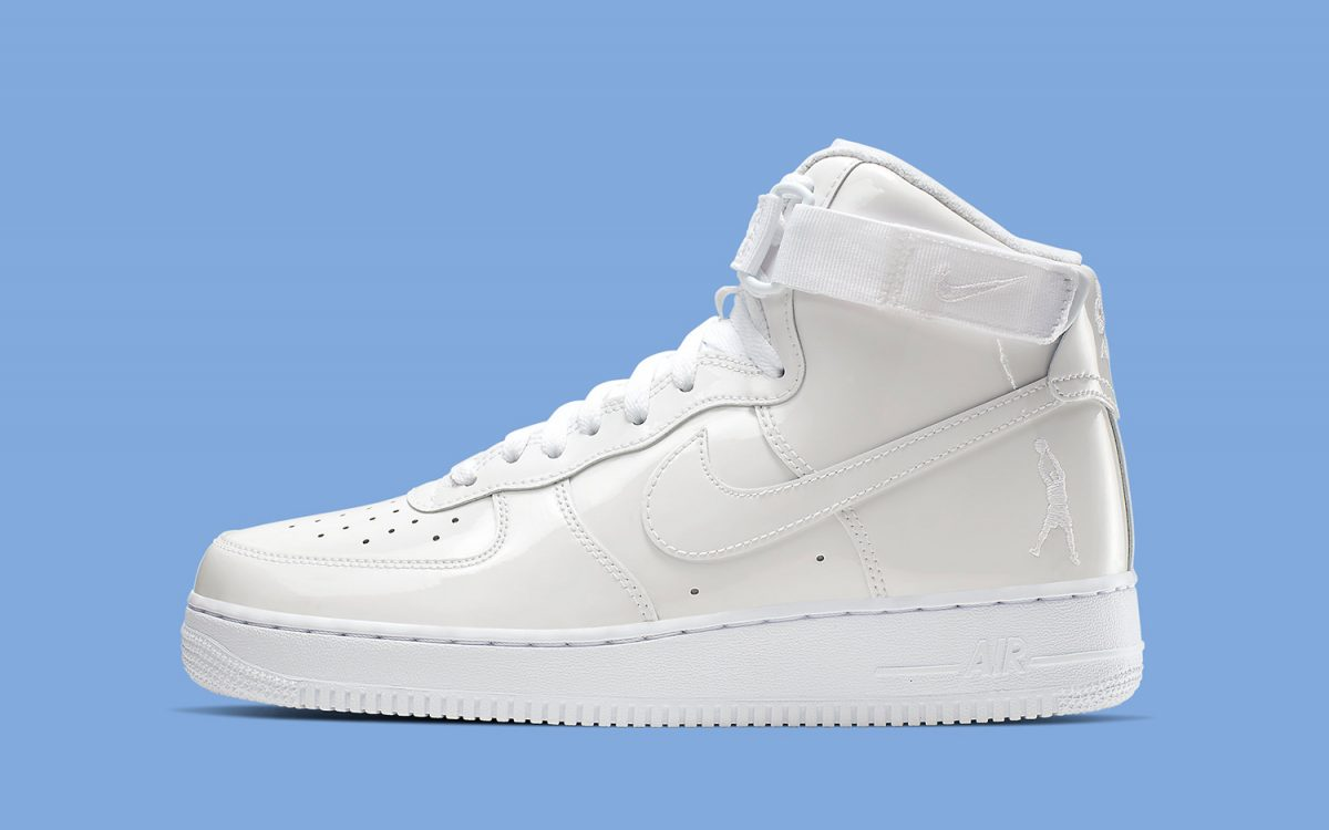 """The Nike Air Force 1 """"Sheed"""" to Arrive in All-White Patent Leather"""
