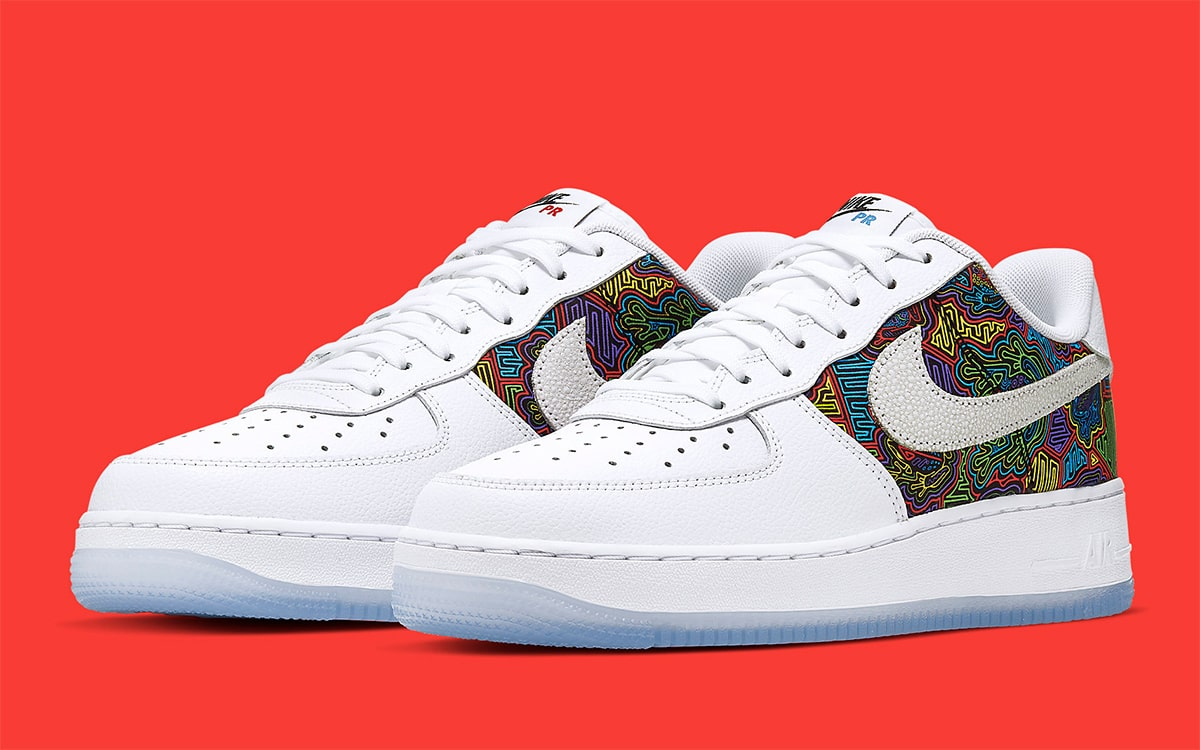Nike Air Force 1 Low Puerto Rico CJ1620 100 Release Date SBD
